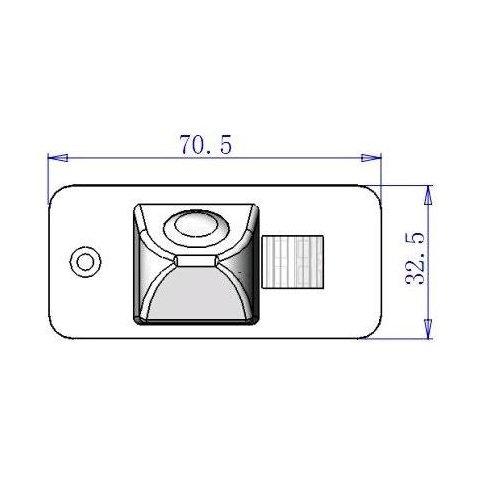 Автомобильная камера заднего вида для Audi A4/A6 Превью 2