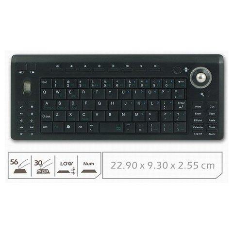 Беспроводная мини-клавиатура с трекболом Превью 1