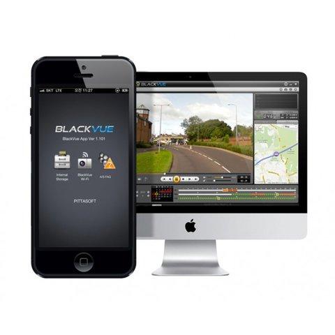 Автовидеорегистратор с GPS и Wi-Fi BlackVue DR500 GW-HD (черный) Прев'ю 5