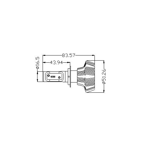 Набір світлодіодного головного світла UP-7HL-H7W-4000Lm (H7, 4000 лм, холодний білий) Прев'ю 4