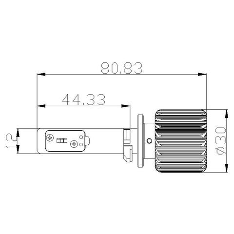 Набір світлодіодного головного світла UP-7HL-881W-4000Lm (881, 4000 лм, холодний білий) Прев'ю 4
