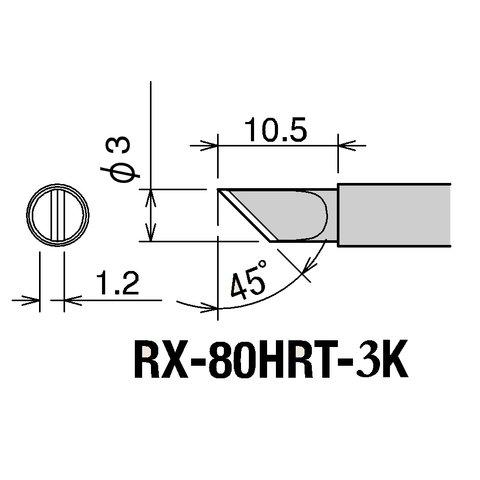 Soldering Iron Tip GOOT RX-80HRT-3K Preview 1
